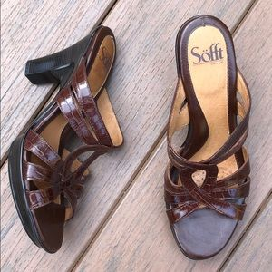 Sofft Brown Animal Print Sandals